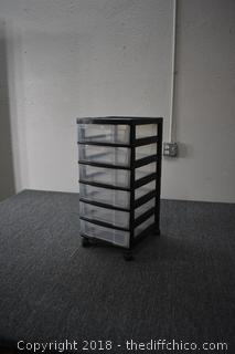 6 Drawer Storage Organizer w/wheels