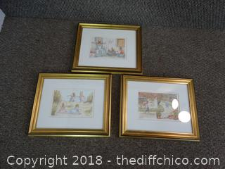 3 Signed Numbered Art