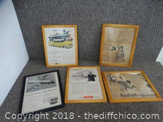 Framed Old Advertisements