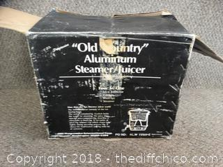 Old Country Aluminum Steamer Juicer