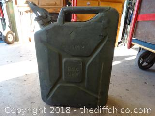 Old Gas Can Military
