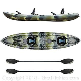 Elkton Outdoors Tandem 12' Hard Shell Kayak - Retail $999