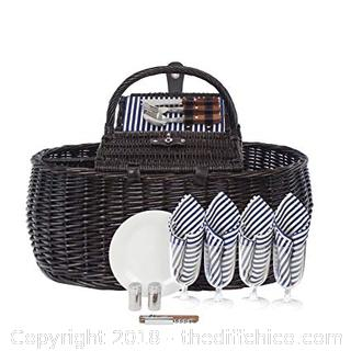Zelancio Inclusive Picnic Basket for 4 People