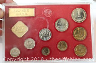 Russian Coin Collection in Protective Case