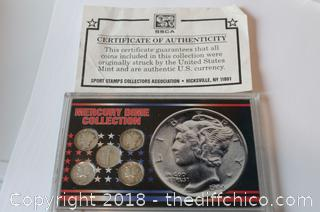 Mercury Dime Collection w/ Certificate of Authenticity