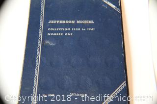 Old Whittman Lincoln Nickel Collection Book
