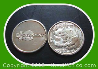 2010 1 gram .999 Pure Silver Panda Coin