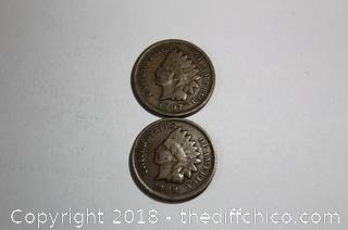 2 - Very Nice Indian Head Pennies
