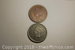 2 - Very Nice Indian Head Pennies
