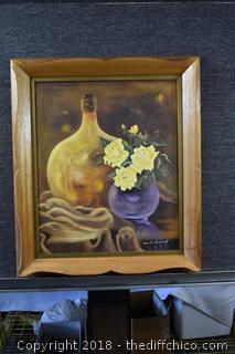 Wood Framed Signed Original Oil