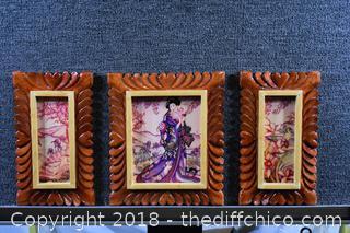 Set of 3 Oriental Prints