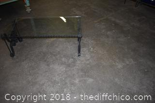 Wrought Iron Glass Top Coffee Table