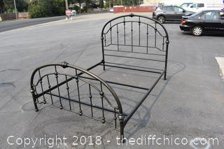 Queen Bed Frame, Headboard, Footboard & Rails