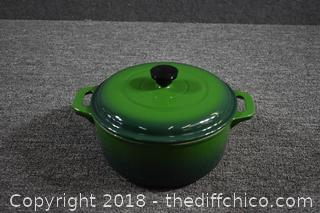 Cast Iron Enamel Pot w/Lid