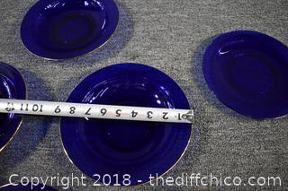 7 Pieces of Cobalt Blue Glass