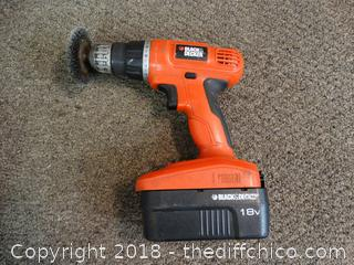 Black and Decker 18v Drill works