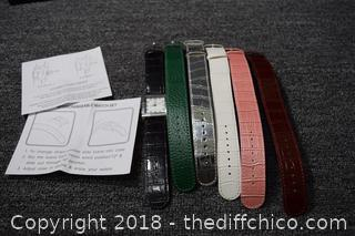 Quarts Watch w/6 Changeable Watch Bands