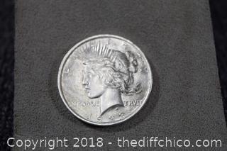 1923 Peace Silver Dollar - 90% Silver