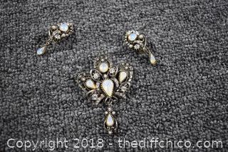 Brooch & Earring Set