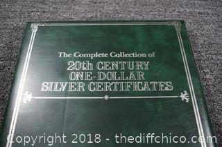 20th Century One Dollar Silver Certificate Collection