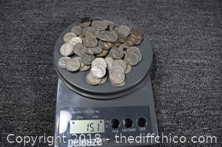 15.1oz Nickels Dates Range from 1938-1970