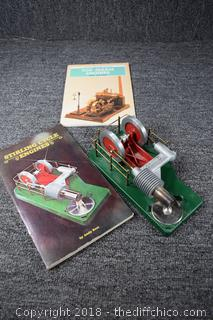Sterling Cycle Engine & 2 Books