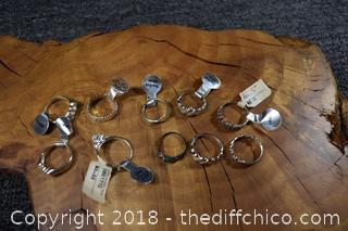 10 Sterling Silver Rings