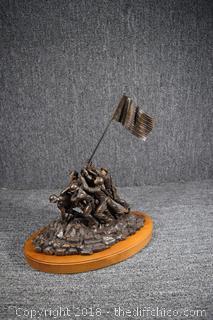 Bronze 1990 Franklin Mint Iwo Jima US Marine Statue