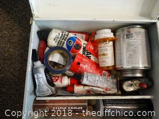 Metal Box With Contents