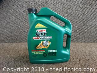 5w-30 GTX Castrol Synthetic Blend Oil