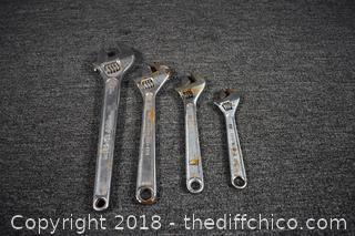 4 Crescent Wrenches