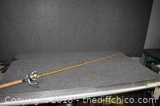 79 1/2in Eagle Claw Fishing Pole w/Reel