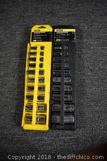 Stanley Set of Metric and Standard Sockets