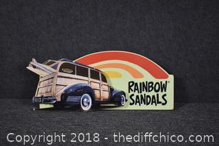 Vintage Rainbow Sandals Sign