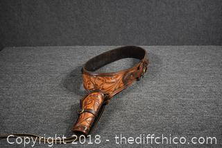 Carved Leather Holster