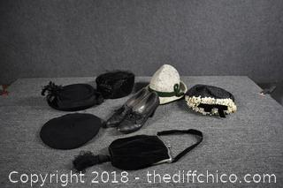 Vintage Hats, Purse and Shoes