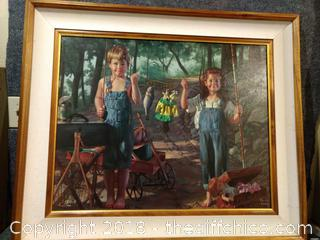 """Bob Byerley Lithograph - Signed and Numbered - """"Summer Snapshot"""" - 38"""" x 32"""""""