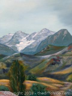 "Signed Oil on Canvas Print - 33"" x 27"""