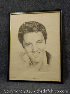 "Framed Elvis - 19.5"" x 24.5"""