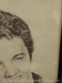"""Framed Elvis - 19.5"""" x 24.5"""""""