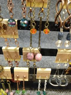 38 Pairs of Earrings with Display
