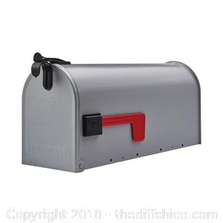 Gibraltar Mailboxes Grayson 7-in W x 9.5-in H Metal Gray Post Mount Mailbox