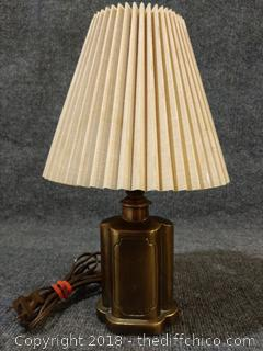 """Vintage Lamp - Working - 13.5"""" Tall"""