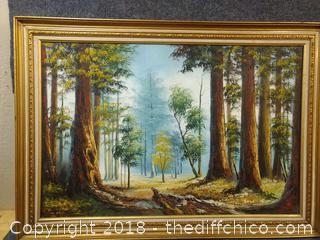 """Original Oil on Canvas Signed by Artist - 41"""" x 29"""""""