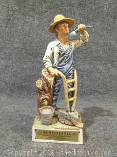 """Whiskey Decanter - Vintage - 13"""" Tall"""