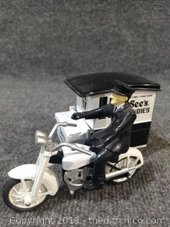 See's Candy Die-Cast Moto with Trailer