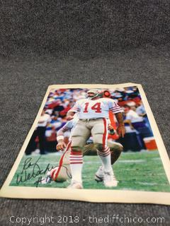 Ray Wersching Autographed Picture