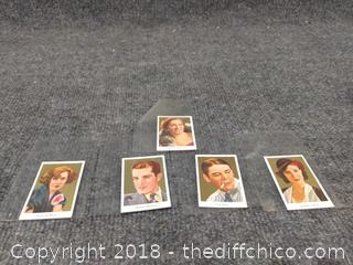 Old Cigarette Trading Cards - 1930's or Before Silent Movie Stars