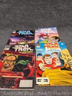 Star Trek Comics - 1989 (4) and 1990 (3)
