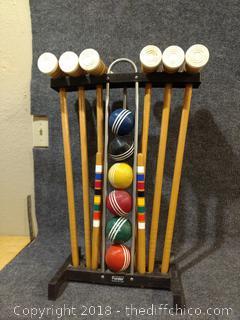 Vintage Forster 6 Player Wooden Croquet Set